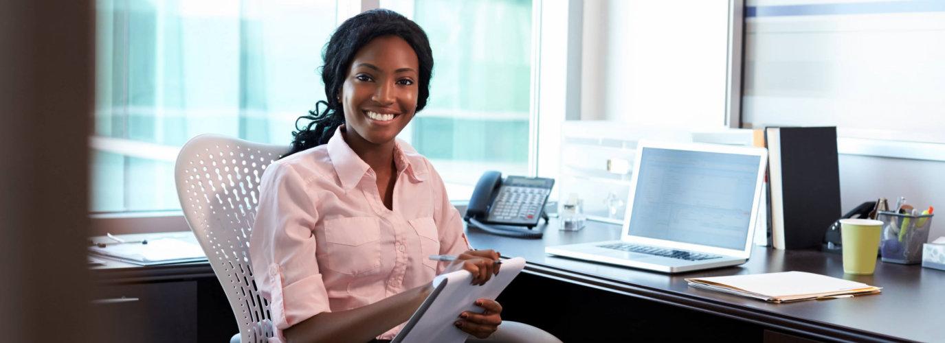 employer smiling